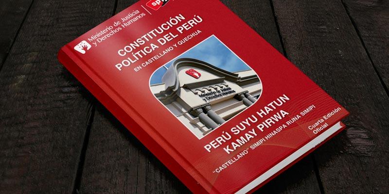 Constitución Política del Perú en castellano y quechua